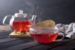 ljust rödbrun varm tea Fotografering för Bildbyråer