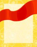 Ljust rött band, vårbakgrund vektor illustrationer