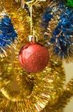 ljust rött glitter för boll Royaltyfria Foton