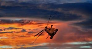 ljust sceniskt för helikopter Arkivfoton