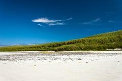 Ljust strandlandskap Cata sand, Sanday, Orkney, Skottland arkivfoto