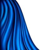 Ljust tänd blåttgardinbakgrund Fotografering för Bildbyråer