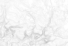 Ljust topographic begrepp för bakgrund för topo-konturöversikt, vektorillustration Arkivbild