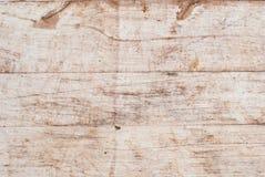 Ljust trä för bakgrund spelrum med lampa Grova träplankor Royaltyfri Foto