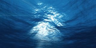 ljust undervattens- Arkivbild
