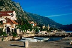 Ljuta wioska w zatoce Kotor Fotografia Royalty Free