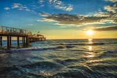 Ljuv havssolnedgång Royaltyfria Foton