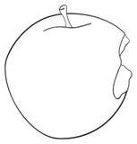 Ljuv trädgård - bitit runt äpple Royaltyfri Foto