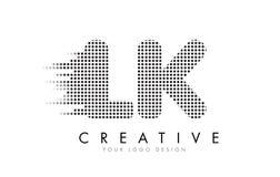 LK L k-Buchstabe-Logo mit schwarzen Flecken und Spuren vektor abbildung
