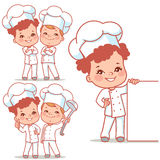 Lkids as little chefs Royalty Free Stock Images