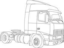 LKW-Skizze, handdraw vektor abbildung. Illustration von automobil ...