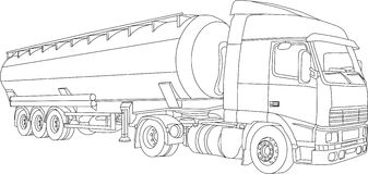 LKW stock abbildung. Illustration von schlußteil, laufwerk - 7084709