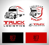 LKW-Anhänger-Logo stock abbildung