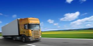 LKW auf Datenbahn Lizenzfreies Stockfoto