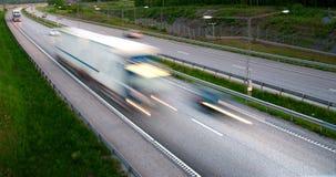 LKW auf Datenbahn lizenzfreies stockbild