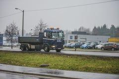 LKW auf der Straße Lizenzfreies Stockbild