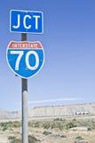 LKW auf I-70 Stockfotografie