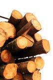 LKW-Bauholznahaufnahme nach lizenzfreies stockbild