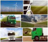 LKW-Collage Stockfotos