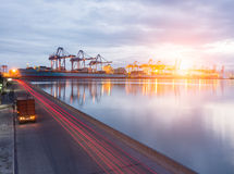 LKW-Container Stockfotografie