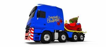 LKW der frohen Weihnachten Stockfoto