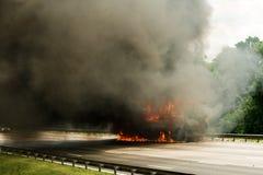 LKW explodiert lizenzfreies stockfoto