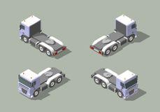 LKW-Fahrerhaus Ikonen-Vektorgraphik-Illustrationsdesign mit vier Ansichten im isometrischen Infografic-Elemente Lizenzfreie Stockfotografie