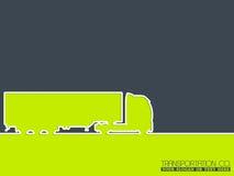 LKW-Firmenwerbungs-Hintergrunddesign Stockfotos