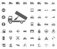 LKW-Ikone Gesetzte Ikonen des Transportes und der Logistik Gesetzte Ikonen des Transportes Lizenzfreie Stockfotos