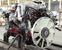 Lkw-Motor stockfotos