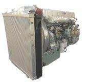 LKW-Motor, getrennt über Weiß Lizenzfreies Stockbild