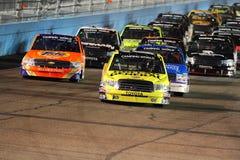 LKW-Reihe NASCAR kampierende Welt Stockfotografie