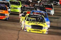 LKW-Reihe NASCAR kampierende Welt Stockbild