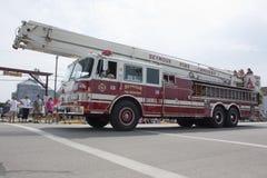 LKW-Seitenansicht Seymour Fire Department Snorkels 3 Lizenzfreie Stockfotos