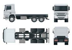 LKW-Traktor- oder -sattelschlepper-LKW Kombination einer Traktoreinheit und einer oder mehrerer Sattelschlepper, zum der Fracht z vektor abbildung
