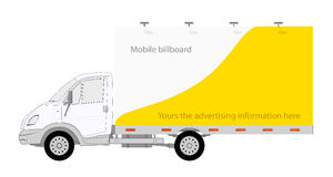 LKW Truck with mobile billboard Royalty Free Stock Images