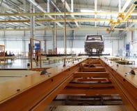 LKW-Werkstatt Stockbild