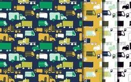 LKWs eingestelltes Muster Stockbilder