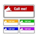Llámeme botón Imagen de archivo