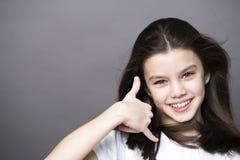Llámeme una niña bonita Foto de archivo libre de regalías