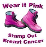 Llévelo rosado sellan hacia fuera al cáncer de pecho Fotografía de archivo libre de regalías