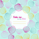 'Lléveme invitación al mar' Copie el espacio stock de ilustración