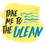 Lléveme a la mano del océano dibujada Fotografía de archivo libre de regalías