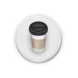 Llévese la taza de café sobre el botón blanco libre illustration