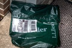 LL Bean Package Imagens de Stock