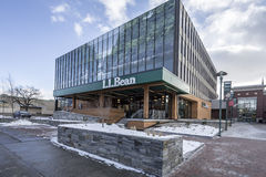 LL BEAN Store Burlington, Vermont. BURLINGTON< VERMONT JANUARY 17th: LL Bean store attached to the downtown Burlington Mall. in Burlington, Vermont on January Stock Photography