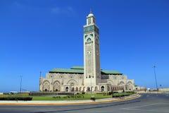 Ll de Hassan de mosquée à Casablanca, le Maroc Photos stock