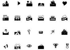 Ll dos ícones ilustração stock