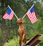 9/ll Statue Honors Search and Rescue Dogs. A statue honors search and rescue dogs who took part in the search and recovery process at the World Trade Center and Royalty Free Stock Photography