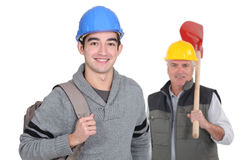 Llaborer with his foreman Stock Photo